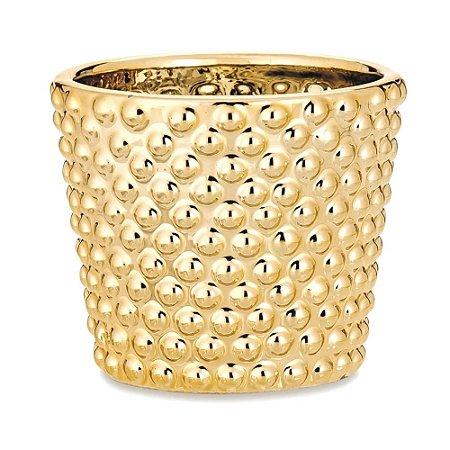 Cachepot Dourado Cerâmica