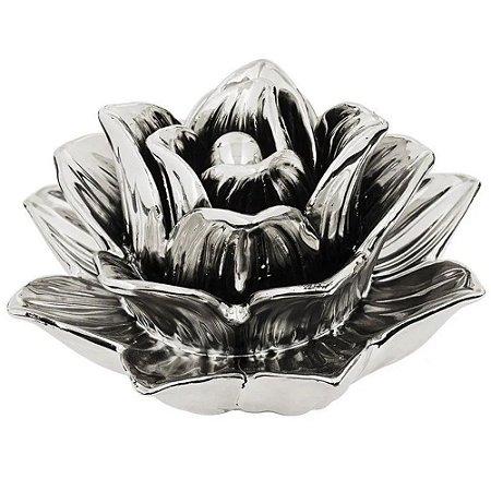Flor Prata Cerâmica