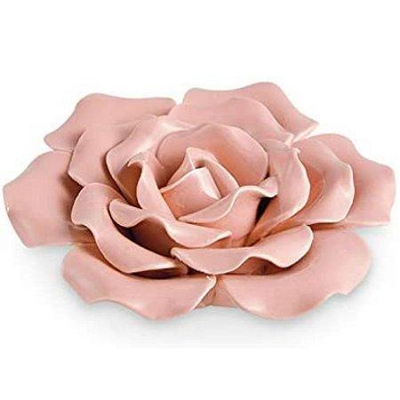 Flor Rosa Cerâmica