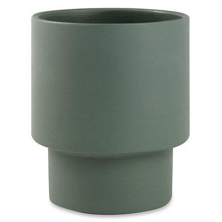 Cachepot Cimento Verde M