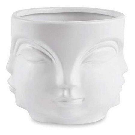 Cachepot Buda Branco Cerâmica P