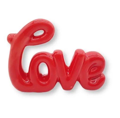 Enfeite De Mesa Decorativo Love Cerâmica 10 Cm