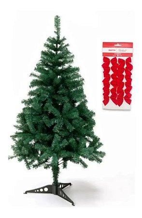 Árvore Pinheiro De Natal Tradicional Cor Verde 1,20m + Brinde A0012