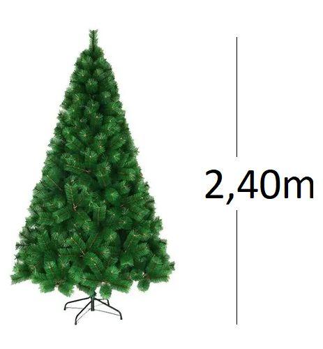 Árvore De Natal Pinheiro Verde 2,40m Modelo Luxo 852 Galhos A0224E
