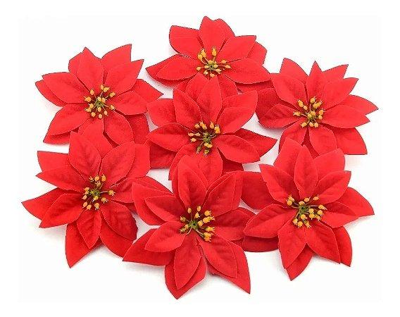 Kit 6 Buquê Flor De Natal Vermelha Bico De Papagaio 30 Cm