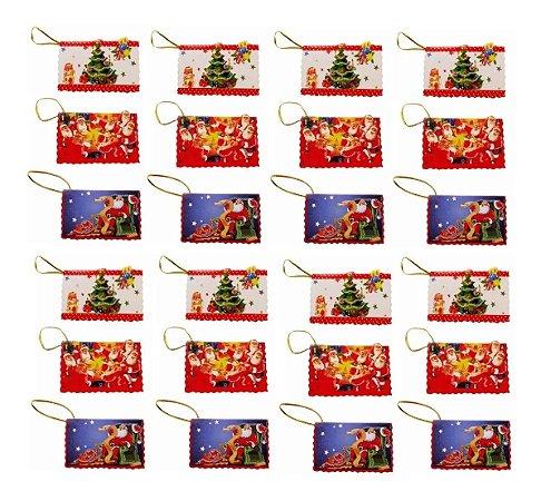 Mini Cartão De Natal 36 Unidades Enfeite Decoração Wincy