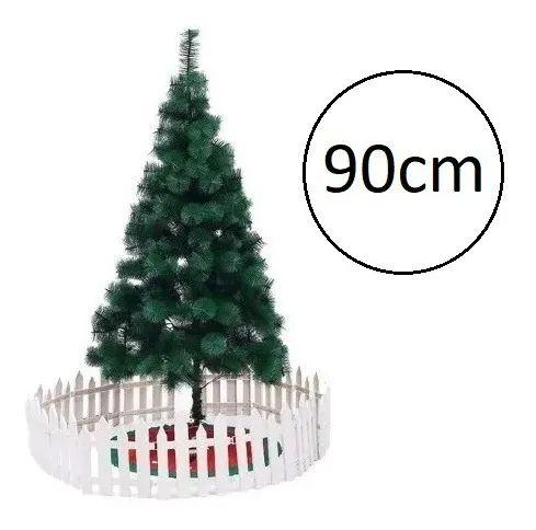 Árvore De Natal Pinheiro De Mesa Luxo 90 Cm Verde 73 Galhos  A0209E