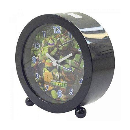 Relógio Despertador Preto - Tartarugas Ninjas