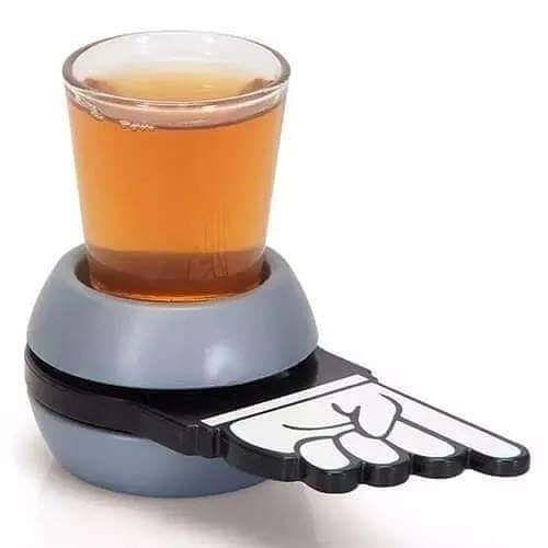 Jogo Roda Shot c/ 1 Copo de Vidro Drinks Livon