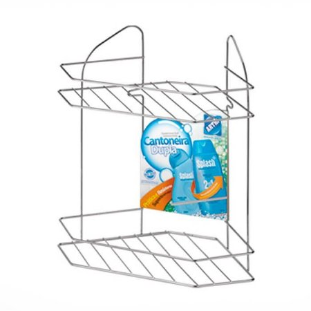 Porta Shampoo Cantoneira Dupla p/ Fixar - Arthi