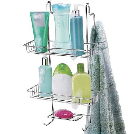 Porta Shampoo para Box Cromado - Arthi