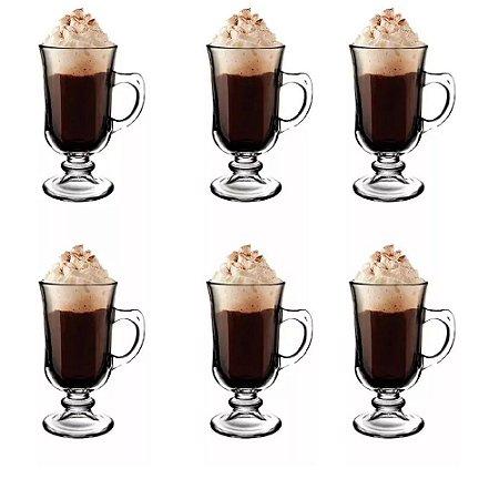 Jogo De Canecas 6 Peças Irish Coffe Cappuccino E Café - Hauskraft