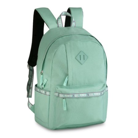 Mochila de Costas Girl Power Verde Pastel - Clio