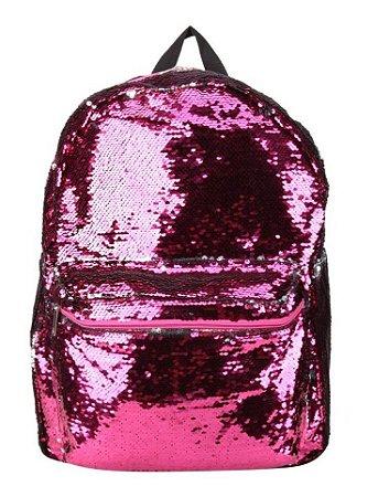 Mochila Paetê Muda de Cor Pink/Prata - Clio