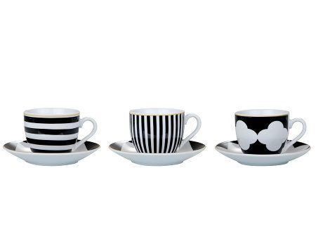 Conjunto de Xícaras Para Café em Porcelana 12 peças Kala 90ml