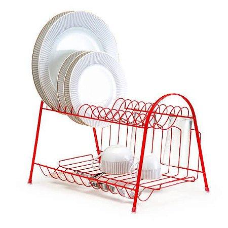 Escorredor Max Duplo Linha Red Vermelho - Arthi