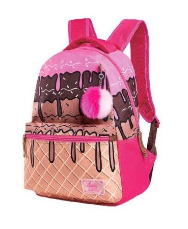 Mochila de Costas Sweety Sorvete Ice Cream Rosa Pompom
