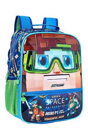 Mochila de Costas Infantil Mini Pixel Efeito 3D - Fuseco
