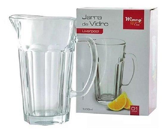 Jarra De Vidro Água Suco 1,2 Litro Liverpool Luxo - Wincy