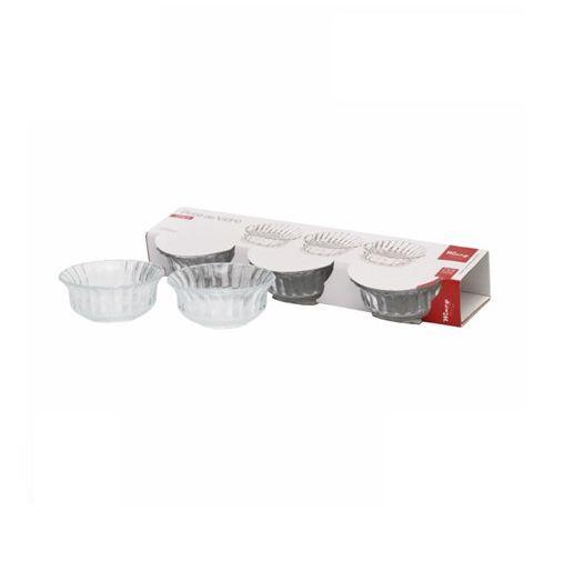 Potes de Vidro 255ml com 3 Peças Luxo para Sobremesa