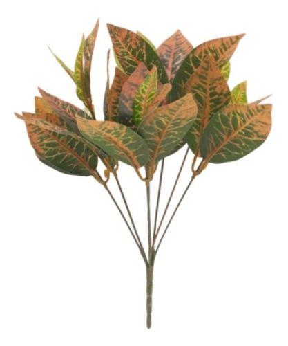 Kit Com 2 Plantas Artificial Folhagem Tropical Decoração