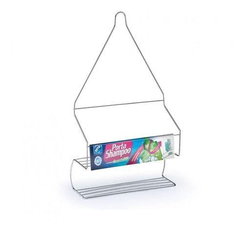 Porta Shampoo Cromado Aço Pop Arthi