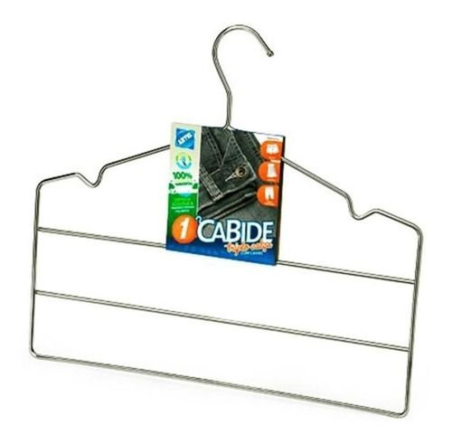Kit 5 Cabides Cavas Triplo Para Calças Cromado Arthi
