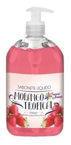 Kit Com 10 Sabonete Líquido 500ml Morango Tropical Aromas