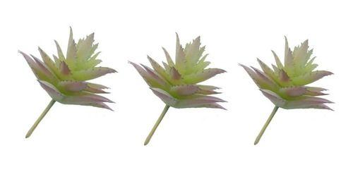 Kit 3 Plantas Suculenta Artificial 10x5 Cm Decoração