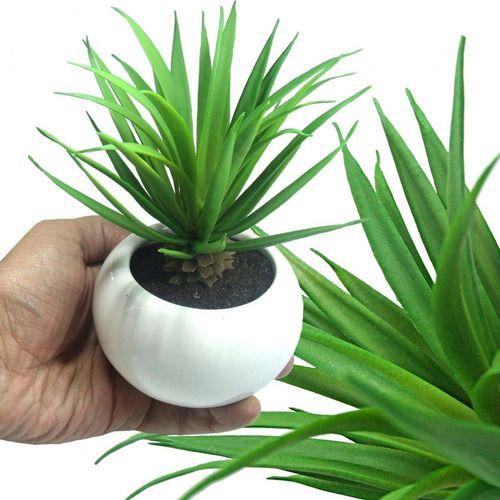 Kit 3 Plantas Suculenta Artificial Ornamental 18cm Decoração