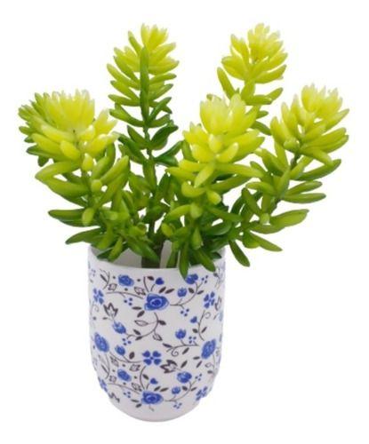 Jogo Com 3 Plantas Artificial Suculenta 20 Cm Decoração Casa Jardim