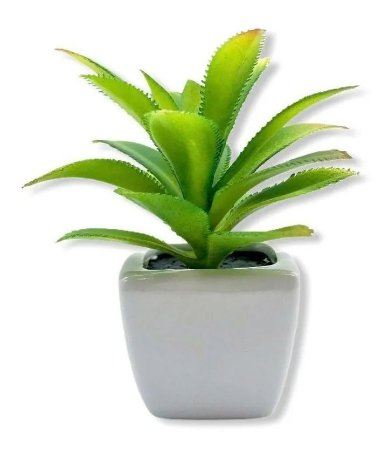 Mini Vaso Com Planta Suculenta Artificial 10x5 Cm Decoração