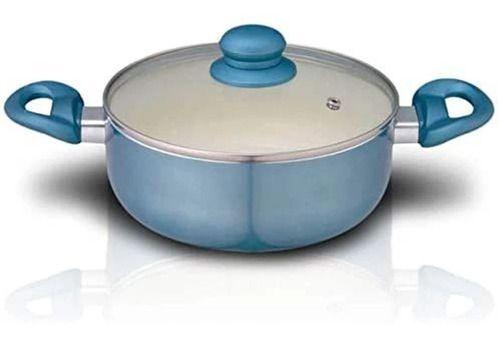 Panela Caçarola Alumínio Revestimento Cerâmico 26 Cm Azul AL026