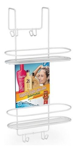 Suporte Box Duplo Porta Shampoo Arthi Emborrachado