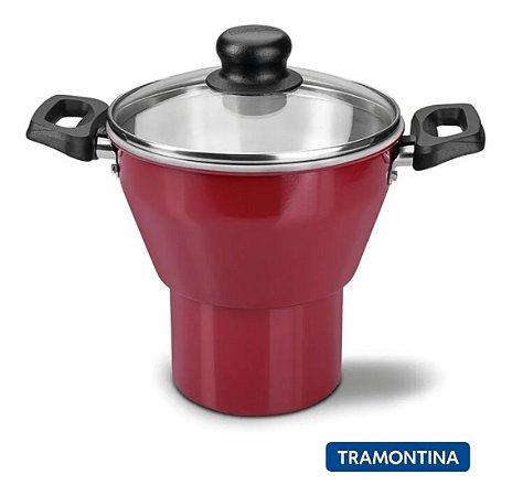 Cuscuzeira Alumínio Caribe 16cm Vermelha 20239716 Tramontina