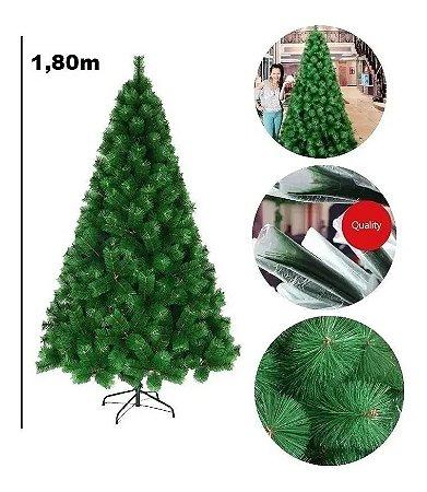 Árvore Pinheiro De Natal 1,80m Modelo Luxo 420 Galhos A0218E