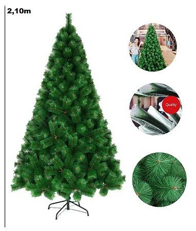 Árvore Pinheiro De Natal 2,10m Modelo Luxo 566 Galhos A0221E