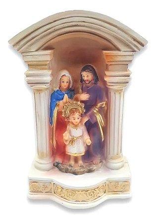 Estátua De Resina Escultura Da Sagrada Família 13 Cm