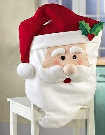 Capa De Papai Noel Para Cadeira Enfeite 70x44 Cm Natal