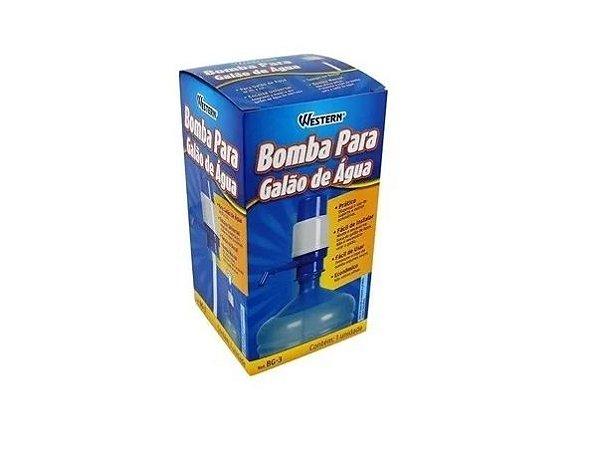 Bomba Manual Para Galão Água 10 E 20 Litros Universal Western