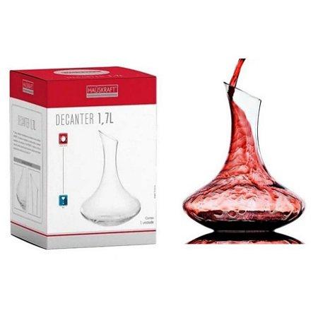 Decanter 1.7 Litros De Vidro Hauskraft Luxo Vinho