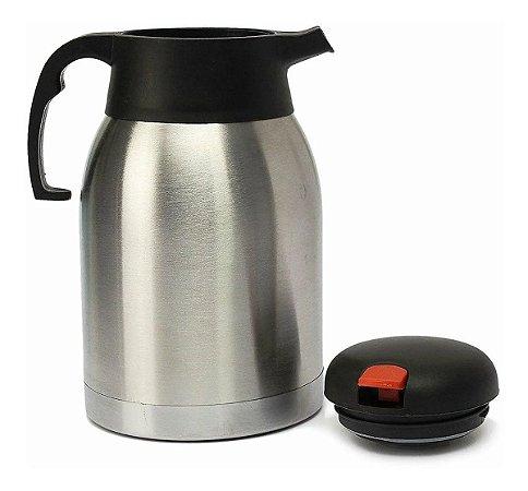 Garrafa Térmica Inox 2 Litros Café Chá Frio Quente Inquebrável