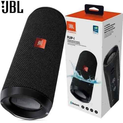 JBL Flip 4 16W com Bluetooth/Auxiliar Bateria 3000 mAh - Preto