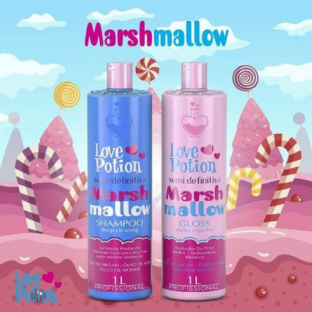Kit  Semi Definitiva Marshmallow Love Potion 2x1L