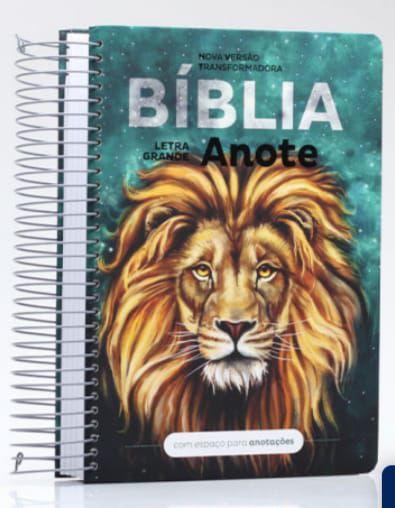 Bíblia anote - Leão - letra grande- NVT