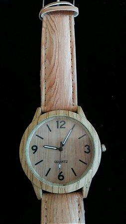 Relógio Pulseira Cor de Madeira