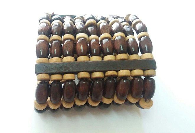 Pulseira Bracelete Madeira