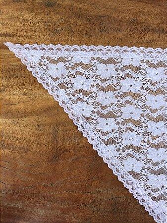 Véu Branco Renda Triangular - Solteiras