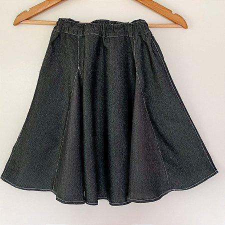Saia Jeans Infantil