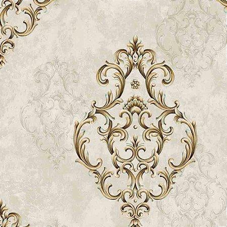 Papel de Parede Arabesco Golden Horse 2 GH262301R